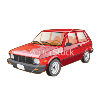 Free red retro car vector - Free vector #266931