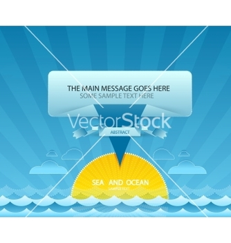 Free sea message design vector - Free vector #266951
