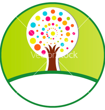 Free stylized tree vector - бесплатный vector #266971