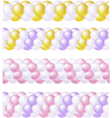 Free balloons garland pattern vector - Free vector #267091