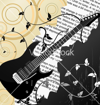 Free guitar background vector - Free vector #267141