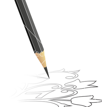 Free sketch drawn by a pencil vector - vector #267281 gratis