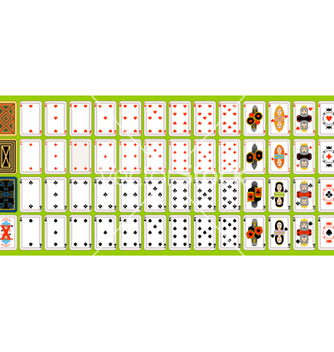 Free set of playing cards vector - Free vector #267331