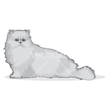 Vector livre do gato persa - Free vector #267381