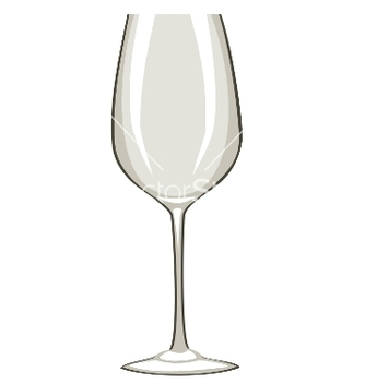 Free empty wine glass vector - vector gratuit #267471