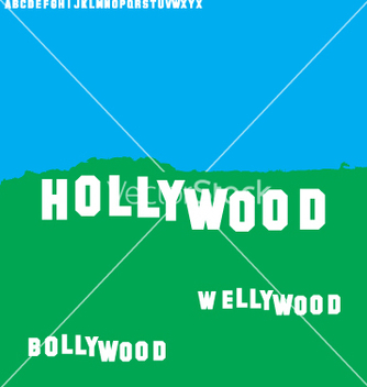 Free wellywood sign vector - Free vector #267541