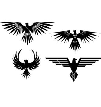 Free eagle symbols and tattos vector - Kostenloses vector #267611