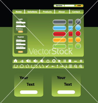 Free website design vector - Free vector #267631