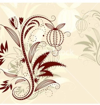 Free floral background vector - Kostenloses vector #267681