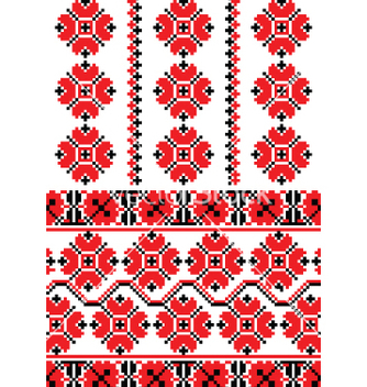 Free ukrainian embroidery ornament vector - Free vector #267701