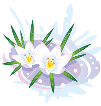 Free flowers and snow vector - бесплатный vector #267771