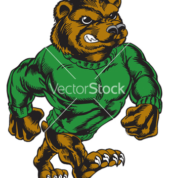 Free bear walking tough vector - Free vector #267941