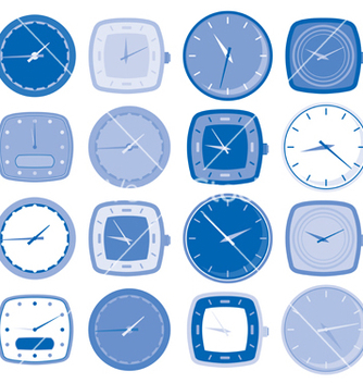 Free watch face icons vector - vector #268101 gratis