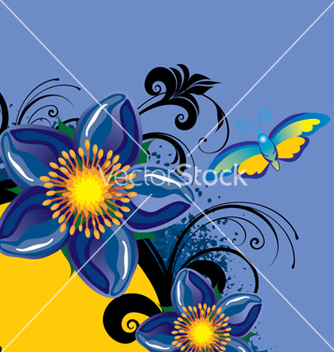 Free floral background vector - Free vector #268111