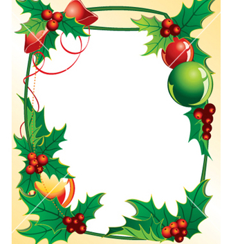 Free christmas holly vector - vector gratuit #268161