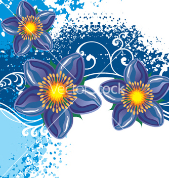 Free floral background vector - Free vector #268171