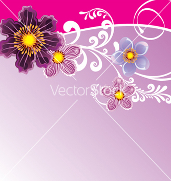 Free floral background vector - Free vector #268181