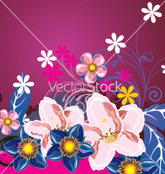 Free floral background vector - Free vector #268201