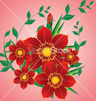Free floral background vector - Free vector #268301