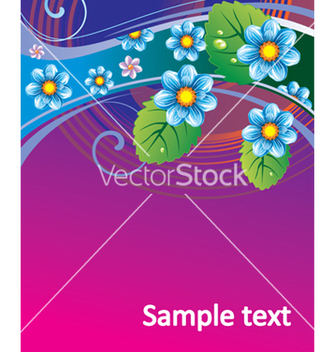 Free floral background vector - Free vector #268331