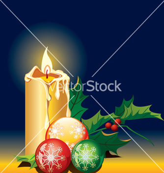 Free christmas candle vector - Free vector #268341