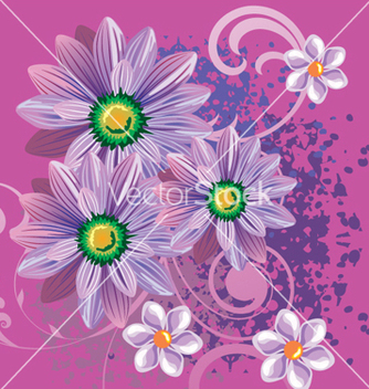 Free floral background vector - Free vector #268381