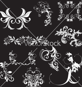 Free floral elements vector - vector #268571 gratis
