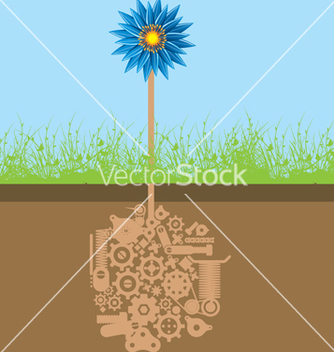 Free mechanical flower vector - Kostenloses vector #268621