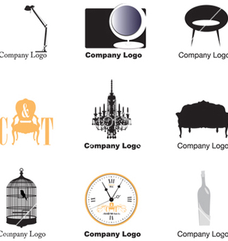 Free furniture logos vector - vector gratuit #268641