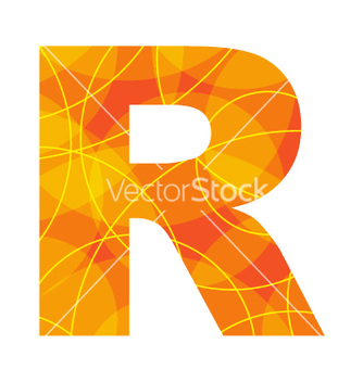 Free abstract font letter r vector - Free vector #268721