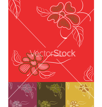 Free flower seamless vector - бесплатный vector #268731
