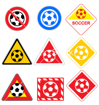 Free soccer signs vector - Free vector #268791