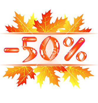Free autumn sale 50 percent discount vector - бесплатный vector #268811