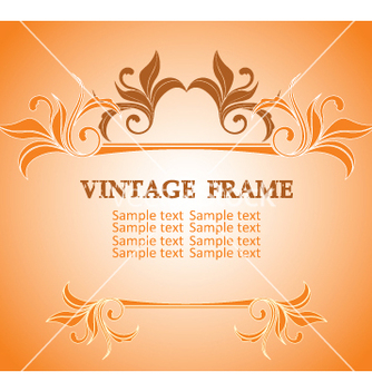 Free vintage frame vector - Free vector #268961