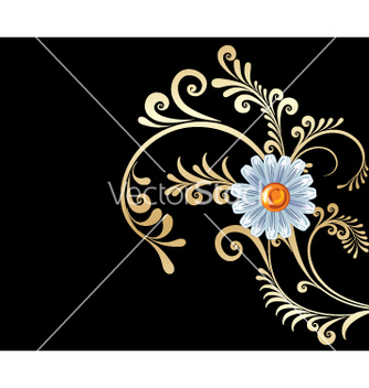 Free gold flowers background vector - Free vector #269001