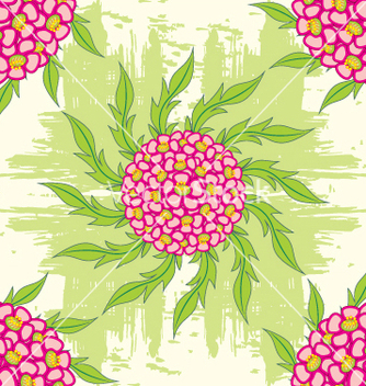 Free flower seamless background vector - Kostenloses vector #269071