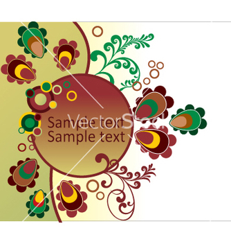 Free floral background vector - Kostenloses vector #269111