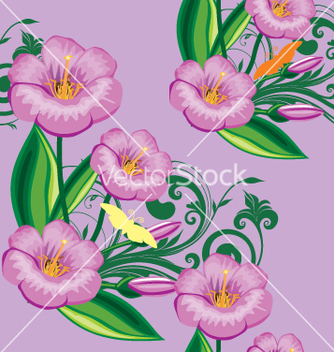 Free floral background vector - Free vector #269191