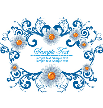 Free floral frame vector - Free vector #269301
