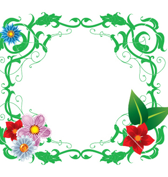 Free floral frame vector - vector gratuit #269311