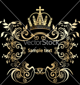 Free golden floral vector - Free vector #269391