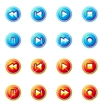 Free media control icon vector - vector #269851 gratis
