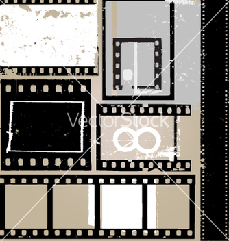 Free grunge film elements vector - Free vector #269941