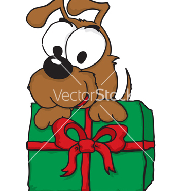 Free christmas puppy vector - Free vector #270001