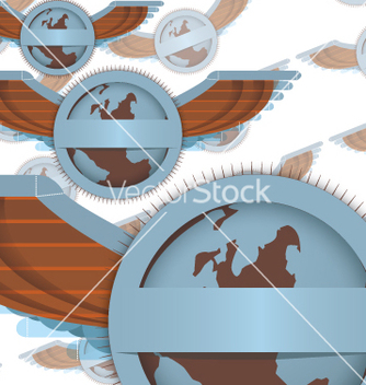 Free wings and globe vector - Kostenloses vector #270141