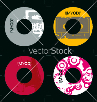 Free cd template grunge designs vector - vector gratuit #270361