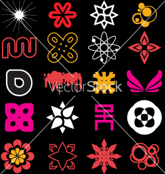 Free funky icon shapes vector - vector gratuit #270441