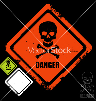 Free danger sign vector - vector gratuit #270541
