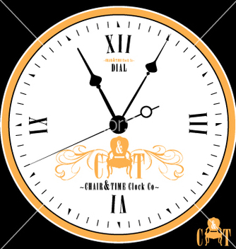 Free vintage clock face vector - бесплатный vector #270571