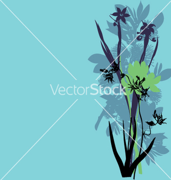 Free wild flowers vector - Free vector #270971